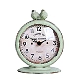 Nikky Home Shabby Chic Pewter Round Quartz Table Clock