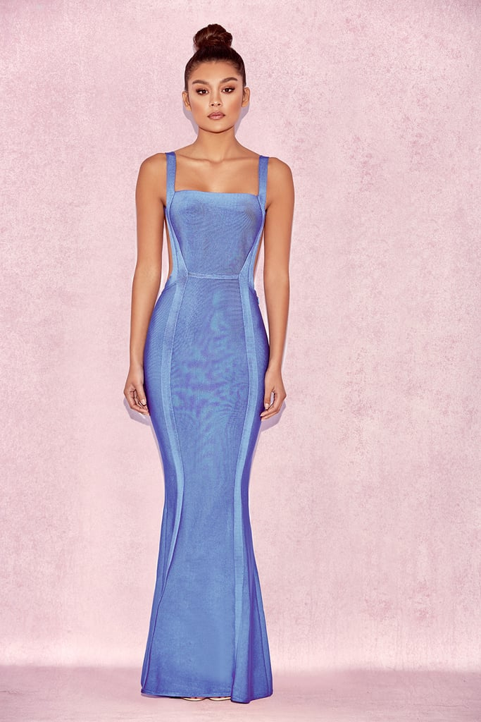House of BC Ophelia Cornflower Blue Maxi Bandage Dress, $301