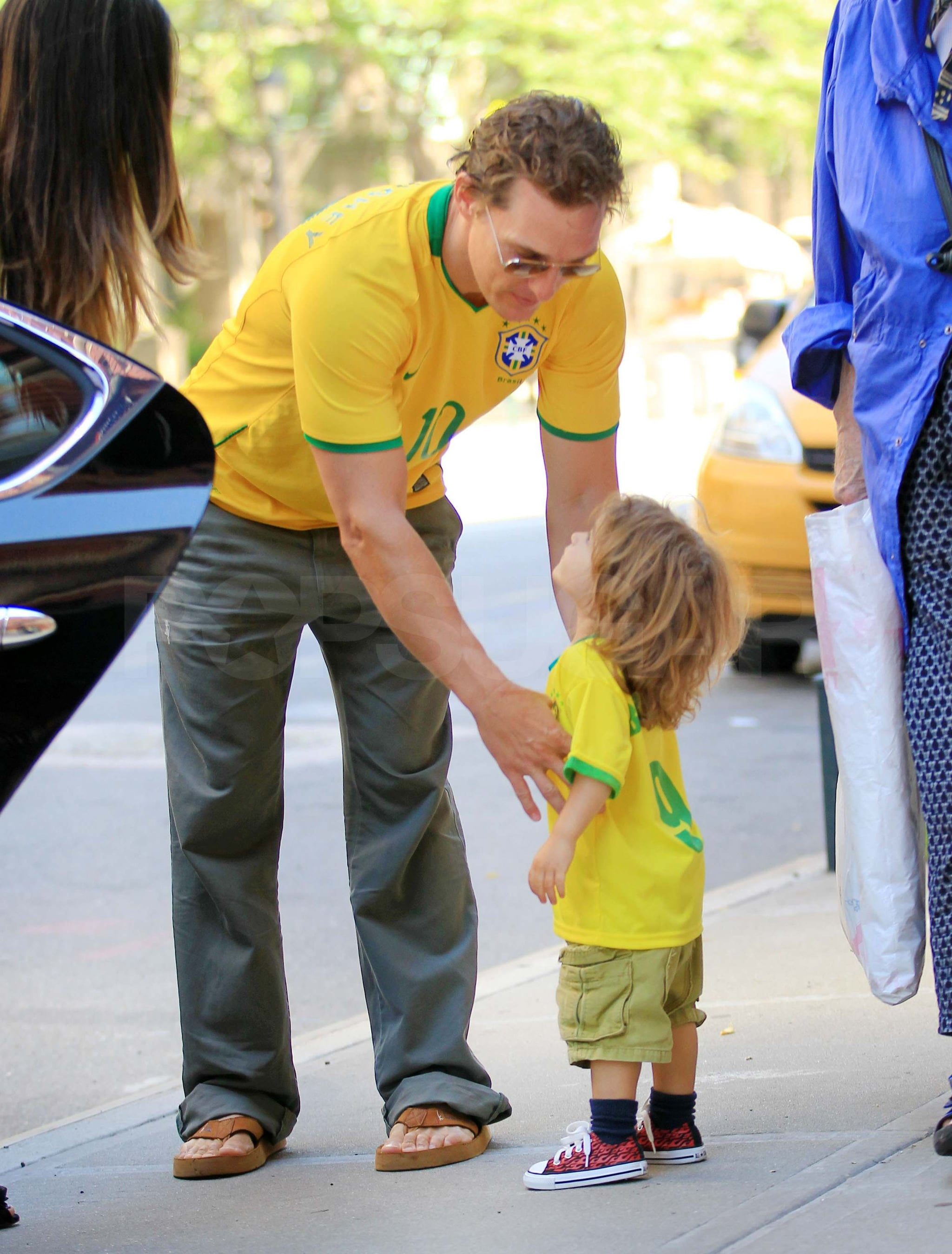 Pictures of Matthew McConaughey and Levi