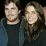 Christian Bale and Sibi Blazic bundled up for the Sundance Film Festival in January 2004.