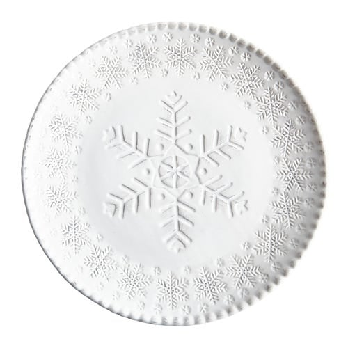 White Snowflake Dinner Plate