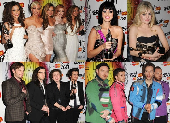 Photos of 2009 Brit Awards Winners Including Duffy, Girls Aloud, Kings of Leon and Katy Perry
