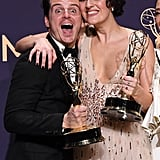 Andrew Scott and Phoebe Waller-Bridge at the 2019 Emmys