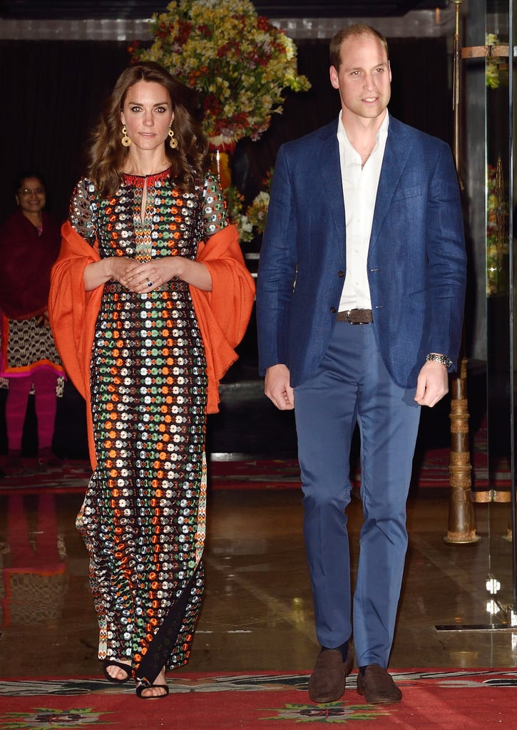 Wearing Tory Burch to dine with the king and queen of Bhutan in April 2016.