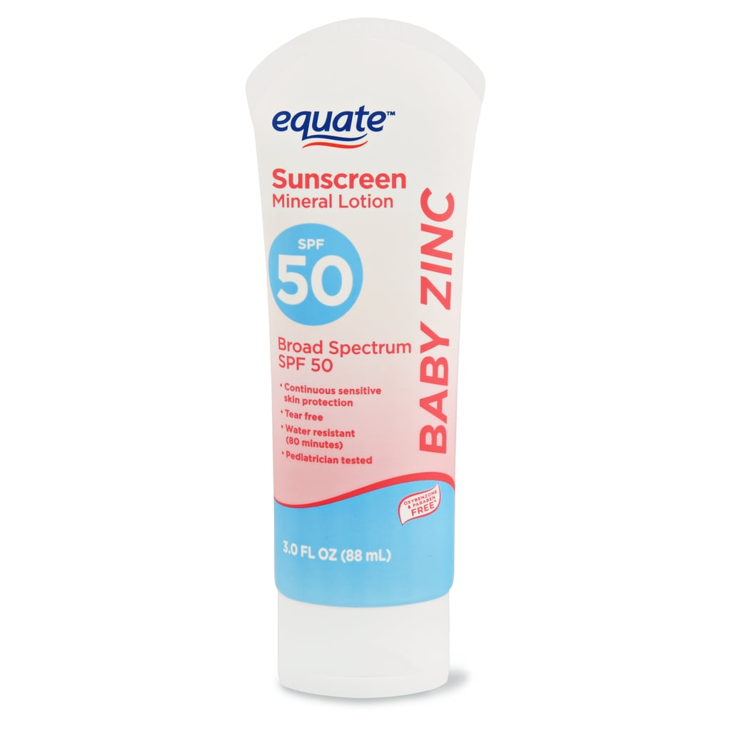 Equate Baby Zinc Sunscreen Mineral Lotion, SPF 50