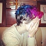 Samantha Ronson showed off her colorful new look. Source: Instagram user sofifiicom