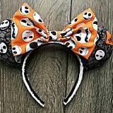 Jack Skellington Nightmare Before Christmas Minnie Mouse Ears ($23)