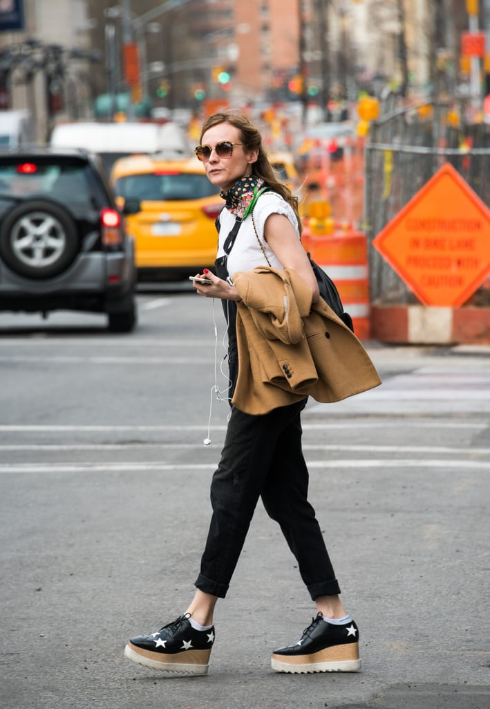 Diane Kruger Wearing Her Stella McCartney Platforms