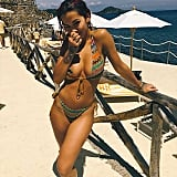Rocking a Tan in a Zigzag Bikini