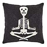 Beaded Yoga Skeletons Pillow