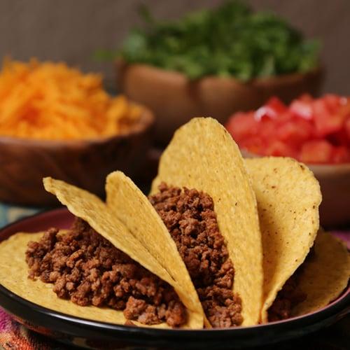 Tex-Mex Ground Beef Tacos