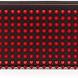 Christian Louboutin Panettone Spike Stud Continental Wallet, Black/Red ($650)