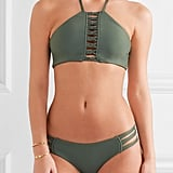 We can't get enough of this Mikoh West Oz Crocheted Halterneck Bikini ($110).