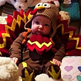 Jimmy Fallon's baby daughter, Winnie Rose, was dressed up as an adorable turkey on Thanksgiving. Source: Instagram user jimmyfallon
