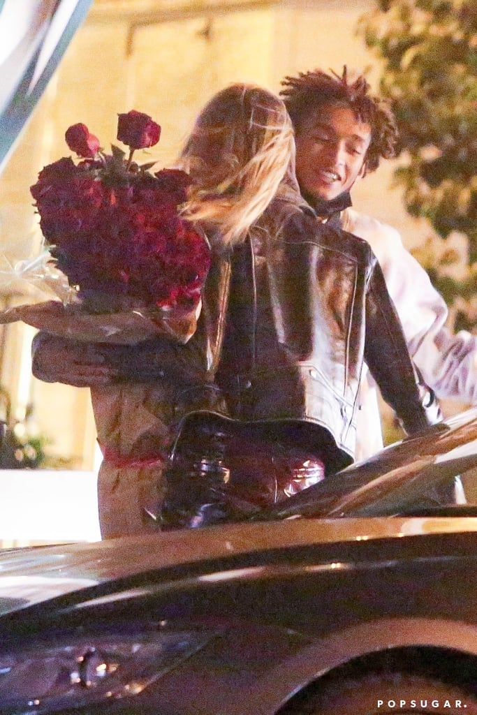 Has Cara Delevingne and Jaden Smith's friendship turned romantic? The 28-year-old model and 22-year-old musician are sparking romance rumors after they were spotted celebrating Valentine's Day together. On Sunday night, the two were photographed outside of a restaurant in LA, where Jaden greeted Cara with a giant bouquet of red roses and a quick kiss. It's unclear if the outing was actually romantic or simply just two friends catching up, but we do know that Cara and Jaden go way back.  Jaden and Cara have been friends for quite a few years now, and they recently starred together in the 2020 film Life in a Year. The movie is about a 17-year-old high school student named Daryn (Jaden) and his girlfriend Isabelle (Cara) who has a terminal illness. Cara and Jaden have yet to address the speculation themselves, so we'll let you take a look at the photos and draw your own conclusions.       Related:                                                                                                           8 People Lucky Enough to Have Been Linked to Cara Delevingne