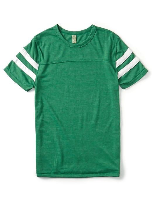 You can shop for team colors that mean something to you, sure, or just pick a shade that'll work well with the rest of your closet. Alternative Apparel's grassy green ($40) would look fabulous with any wash of denim.