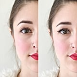Same Eye, With and Without Magnet Lashes