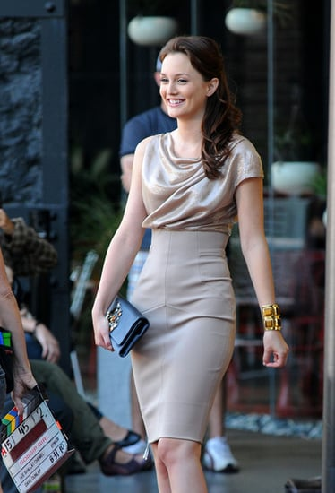 """Gossip Girl"" gets fashionable outside the Standard Hotel."