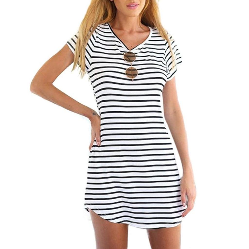 Stripe It Up: Tenworld Crewneck Dress