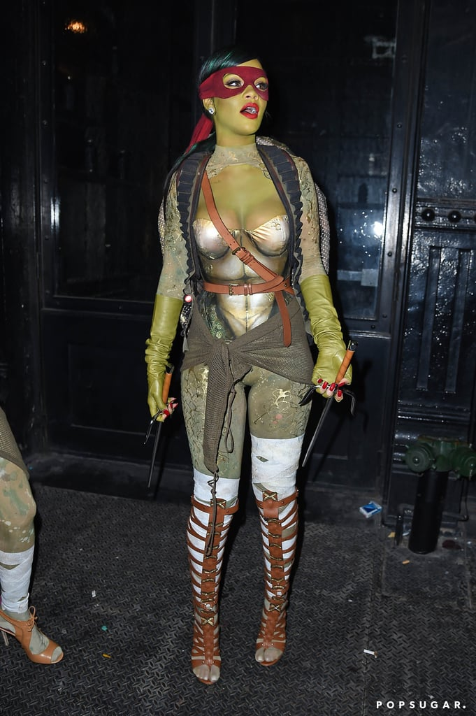 rihanna got in the halloween spirit on friday when she dressed up as a sexy teenage