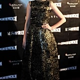 The actress channeled romantic glamour in Chanel Couture for the Interstellar premiere in Shanghai.