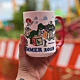 A seasonal Toy Story Land mug.