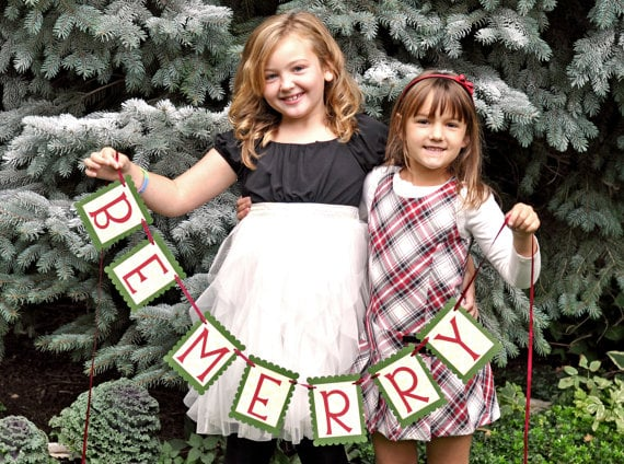 Be Merry Christmas Banner Photo Prop