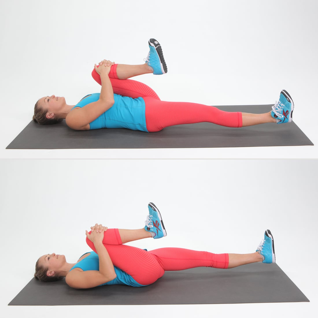 Image result for supine single knee tuck stretch