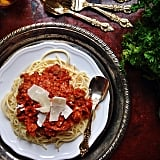 6. Spaghetti bolognese (just being in the kitchen!):