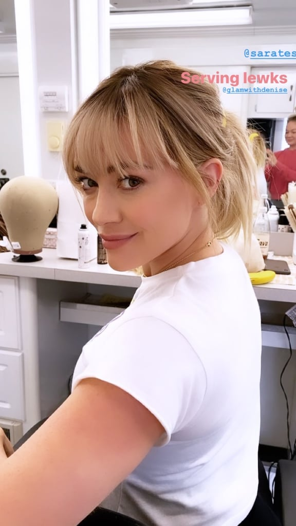 Is It 2002, or Is Hilary Duff Bringing Back Lizzie McGuire's Iconic Bangs For the Reboot?
