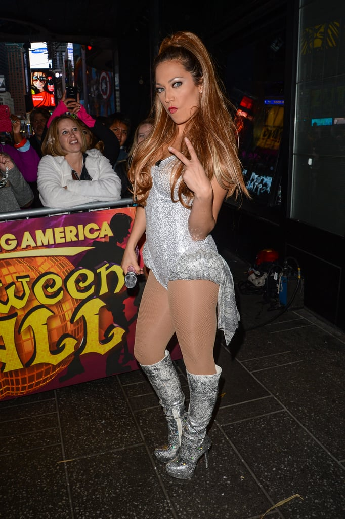 Ginger was a spitting image of Ariana Grande at the Good Morning America taping in 2014.