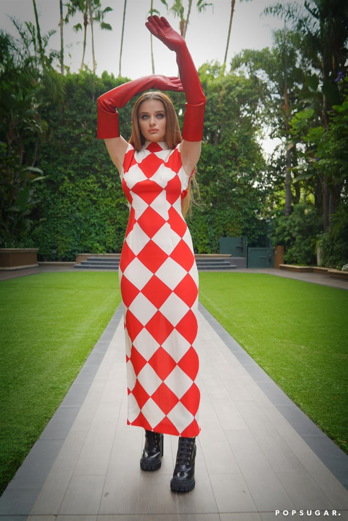 Joey King's Red Checkered Dress For The Kissing Booth 3