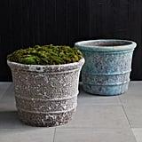 Banded Stoneware Planter