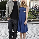 Amanda Seyfried and Justin Timberlake did an outdoors photo shoot for In Time.