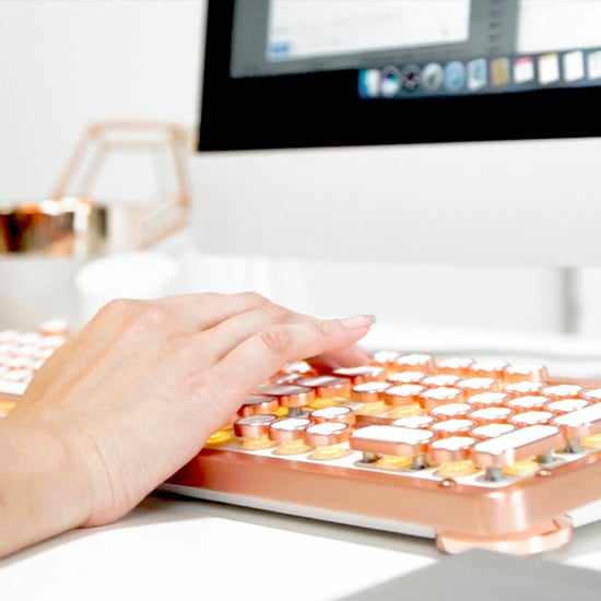 Rose Gold Typewriter Keyboard