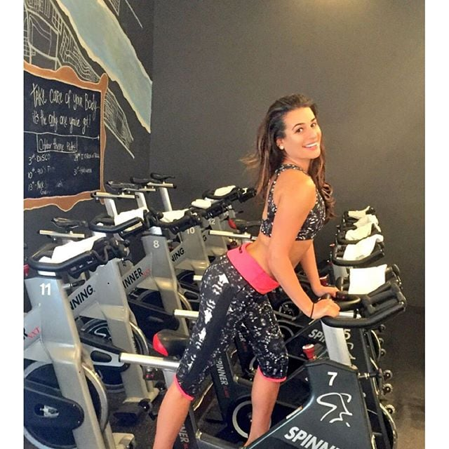 Lea got in a spin class over the weekend.