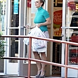 Britney Spears carried her bags out of the store.