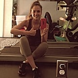 Jessica Alba squeezed a workout into her busy day. Source: Instagram user jessicaalba