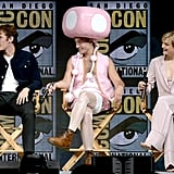 Ezra Miller as Toadette at Comic-Con 2018