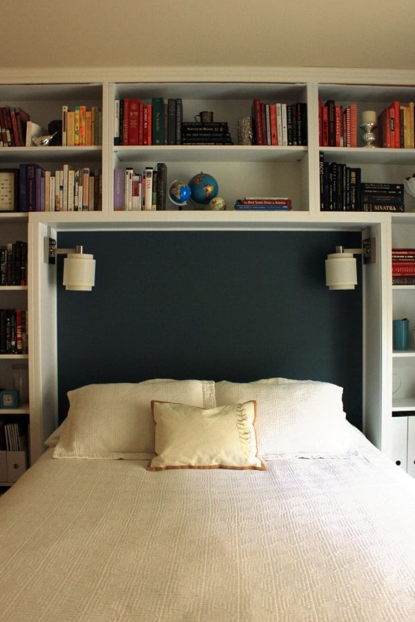 how to style books in bedroom popsugar home