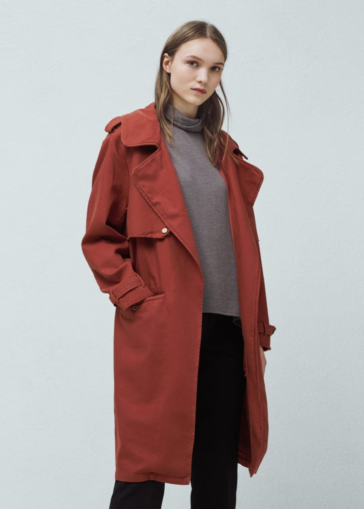 Mango Outlet Cotton-Blend Trench Coat