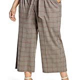 1.STATE Acoustic Plaid Paperbag Waist Crop Pants