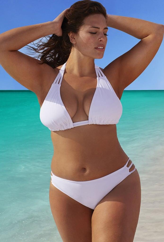 Swimsuits For All Beach Babe White Triangle Triple String Bikini