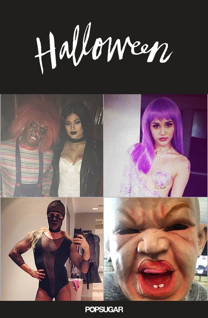 Celebrity Halloween Throwbacks on Instagram