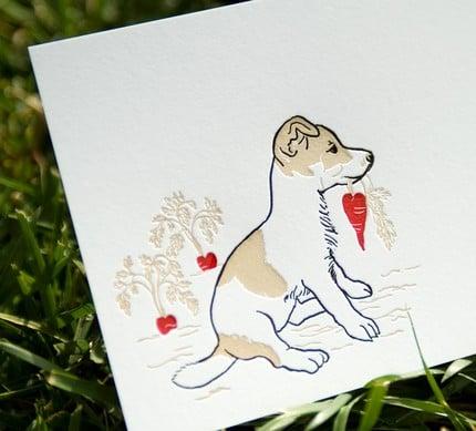 Valentine's Day Letterpressed Card Set  Jack by drenculture ($15 for 5)