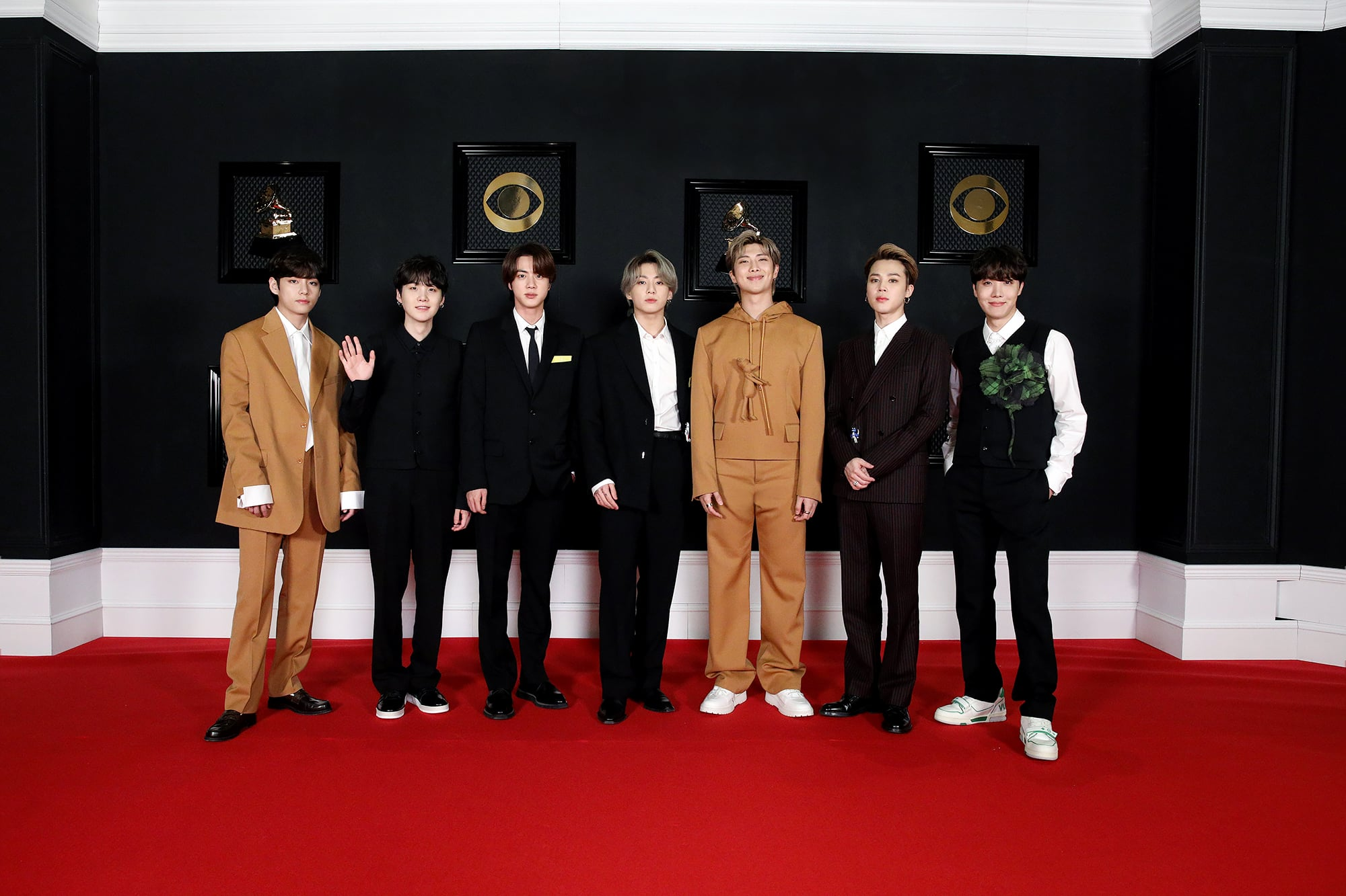 BTS at the 2021 Grammy Awards | A Stylish, Star-Packed Grammys Red Carpet Is Music to Our Ears | POPSUGAR Fashion Photo 8