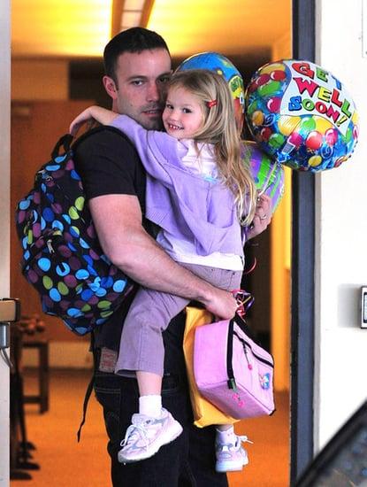 Ben picks up Violet from school