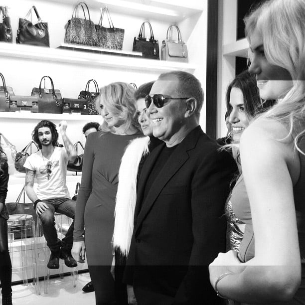 Michael Kors With Kate Upton and Deborah Messing