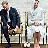 Kate Middleton and Prince William visited Assyakirin Mosque in Kuala Lumpur in September.