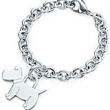 Tiffany & Co. Scottie tag Charm and bracelet ($135)